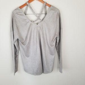 NWT Loveriche Faux Suede Shirt